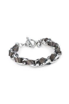 hallam bracelet, pewter/silver | Lulu Avenue