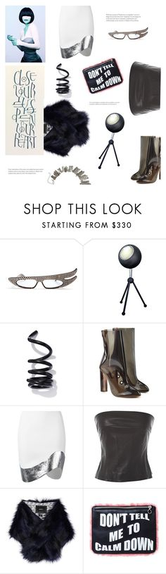 """""""futuristic"""" by gabrielleleroy ❤ liked on Polyvore featuring Gucci, Proenza Schouler, adidas Originals, Thierry Mugler, Chanel, Unreal Fur, Doriane van Overeem, fauxfur and polyvoreeditorial"""