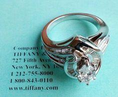 Продаётся кольцо TIFFANY   модель T&Co 05228346    Total Diamond 2.02ct   MARQUISE 0.90ct F/VS   BAGUETTE 1.12ct G/VS    Price: $24 000  Кольцо в идеальном состоянии!   Вес:9.20g. 750   Размер: 17.5  Есть сертификат Тиффани на Бриллианты   Цена по расчету онлайн калькулятора Бриллиантов:  Составляет от 5 520$ до 7 360$   и это только Золото + центральный бриллиант MARQUISE.