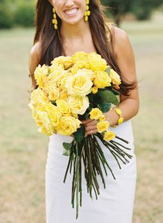 I'm not a big fan of yellow, but doing a 'yellow rose of texas' themed wedding sounds like a great idea.