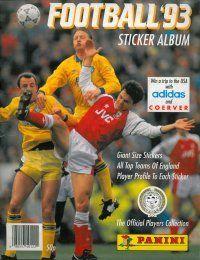 Panini Football 93 Album Cover