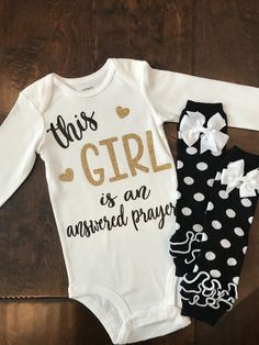 This sweet baby bodysuit (or t-shirt) is perfect to show your love in God and your little miracle!