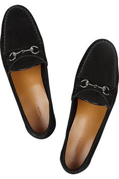 Gucci Horsebit-detailed suede loafers NET-A-PORTER.COM