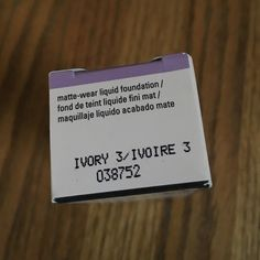 Mary Kay matte-wear liquid foundation - Ivory 3 Brand new, unopened Mary Kay timewise matte-wear liquid foundation in Ivory 3.  For combination to oily skin. Mary Kay Makeup Foundation