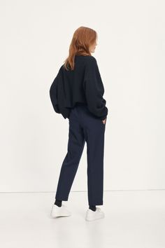 Smilla trousers 12810 Welt Pocket, Drawstring Waist, Trousers, Normcore, Wool, Fabric, Cotton, Style, Fashion