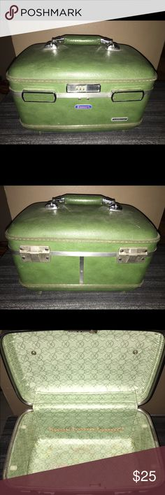 American Tourister Escort Train Case Green Luggage Hard shell. In great condition. Check out our closet for great bundle offers! American Tourister Bags Travel Bags