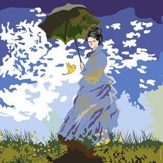 Eliza e Piu em O Passeio de Claude Monet