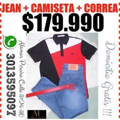 JEAN LEVIS MÁS CAMISETA =$179.990  DOMICILIO GRATIS NUEVO...