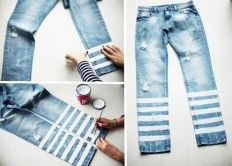 DIY : striped denim