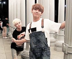 BTS | V and RAP MONSTER this was in LA ;___; why weren't we there