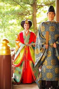 Junihitoe: the classical twelve layers of silk kimono worn by members of the imperial court.