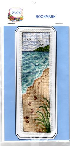 Footsteps in the Sand Cross Stitch Bookmark by EmmyLouCandles