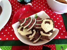 Decoração Café da Manhã Natalino - Árvore de Natal e Papai Noel de Chocolate da Cacau Show