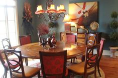 Whimsical Dining Room minus the light fixture.