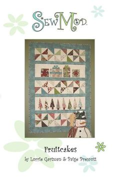 Fruitcakes Christmas Quilt Pattern FREE Shipping by SewModDesigns
