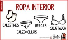Vocabulario ropa interior español