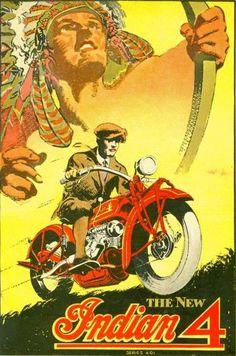 Vintage Car And Motorcycle Posters Retro Motoring Laminated Charts Bike Poster, Motorcycle Posters, Motorcycle Style, Enfield Motorcycle, Women Motorcycle, Motorcycle Helmets, Motos Vintage, Vintage Indian Motorcycles, Indian Motorbike