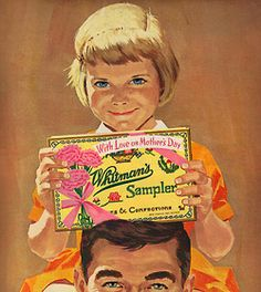 rogerwilkerson:  With Love on Mother's Day - detail from 1962 Whitman's Candy ad.