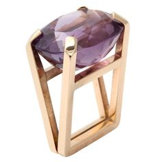 1stdibs - Architectural  Amethyst Ring explore items from 1,700  global dealers at 1stdibs.com