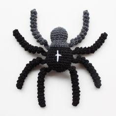 "Original pinner said, ""Free Pattern - Crochet Spider from LutterIdyl.dk"
