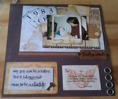 Daddy & Me scrapbook Page