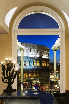 A Fine Romance ~ Share an aperitif and a view with someone special.....Rome , Italy - Palazzo Manfredi