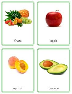 Montessori Inspired Fruit 3 Part Cards by Pinay Homeschooler Shop Fruits And Veggies, Vegetables, Free Fruit, A4 Paper, Picture Cards, Botany, Card Sizes, Autism, Montessori