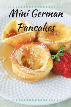 Makes 18 Mini German Pancakes · Check out these super cute mini german pancakes! Drizzle with syrup, sprinkle with powdered sugar, or eat'em with fruit! Delicious any way you want them! Breakfast Pancakes, Breakfast Items, Breakfast Dishes, Breakfast Recipes, German Breakfast, Yummy Breakfast Ideas, Baked Pancakes, Pancake Muffins, Pancakes And Waffles
