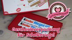 Tutorial: Geschenkverpackung Schokoriegel mit Stampin' Up! - YouTube