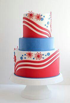 4th july wedding cakes