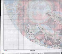 Solo Patrones Punto Cruz 4/9 Ying Yang Dolphins Cross Stitch Sea, Cross Stitch Charts, Cross Stitch Patterns, Canvas Designs, Stitch 2, Yin Yang, Plastic Canvas, Cross Stitching, Dolphins