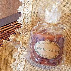 New Country Primitive Rustic Pillar Candle ~ Cinnamon Stick