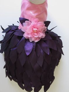Purple Leaf Dog Dress Hat & Leash Set Other by FantasyPupFashions, $60.00
