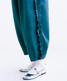 【merlot】サイドフリルバルーンパンツ