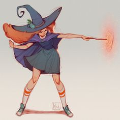 """loish: """"A witch that I drew during a workshop that I gave a few weeks ago :) we chose a theme together and picked 'magic' :) the right one is a sneak peek of a drawing I'm finishing for my upcoming. Foto Cartoon, Cartoon Kunst, Anime Kunst, Cartoon Art, Anime Art, Cartoon Witch, Art And Illustration, Pretty Art, Cute Art"""