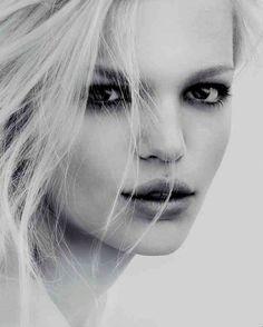 Daphne Groeneveld photographed by Mert  Marcus for Calvin Klein Sheer Beauty Fragrance.
