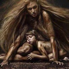 Wolf Sister and pup (models unknown) Writing Inspiration, Character Inspiration, Vampires And Werewolves, She Wolf, Portraits, Wolf Tattoos, Gods And Goddesses, Archetypes, Werewolf