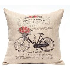 Decorative Pillow Cover French Country Style Vintage French Decor... ($20) ❤ liked on Polyvore featuring home, home decor, throw pillows, decorative pillows, home & living, home décor, silver, rose throw pillow and rose home decor
