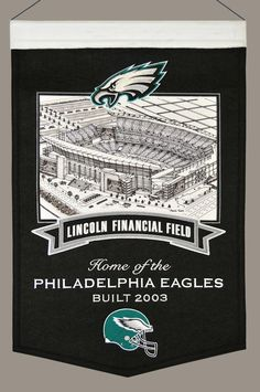 Philadelphia Eagles Wool Stadium Banner - Lincoln Financial Field