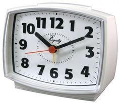 Equity by La Crosse Electric Alarm Clock with Lighted Dial Loud Beep Home Decor #EquitybyLaCrosse
