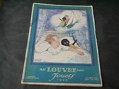 Catalogue Jouets Etrennes Au Louvre 1922