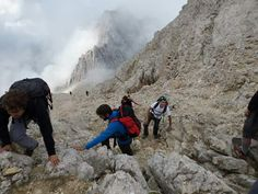 Going on the top of the Appenines. Gran Sasso d'Italia national park. Italy.