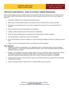 Social Media Guide - Tips for your LinkedIn Profile: How to Attract Hiring Managers