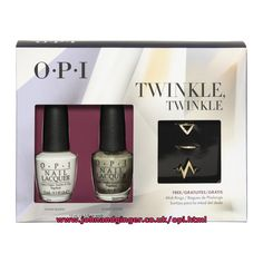 Opi Starlight Twinkle Twinkle Set. Limited edition. Contains Funny Bunny, Comet Closer & 3 free rings.