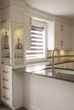 Cuisine Contemporaine   Ébénisterie BSG Alcove, Armoire, Kitchen Cabinets, Bathtub, Bathroom, Home Decor, Contemporary, House, Clothes Stand
