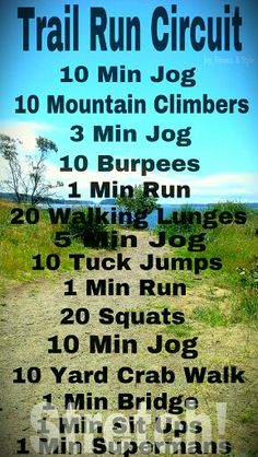Trail run circuit workout to add core and stability exersizes