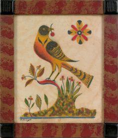 A lovely bird by Pennsylvania folk artist David Y. Ellinger