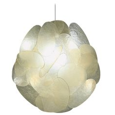 Extra Large Fiberglass Lamp by Enrico Botta   From a unique collection of antique and modern chandeliers and pendants  at https://www.1stdibs.com/furniture/lighting/chandeliers-pendant-lights/