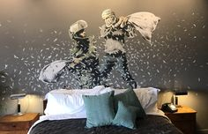 See inside Banksy's new Walled Off Hotel in Bethlehem