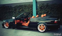 BMW E36 3 series cabrio black and orange